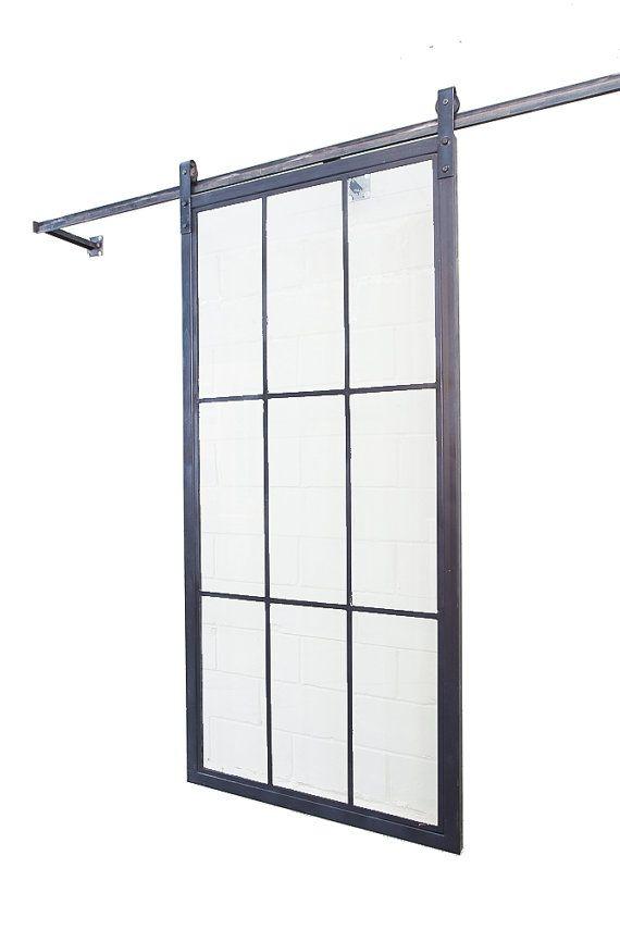 Sliding french door steel tube framed glass by