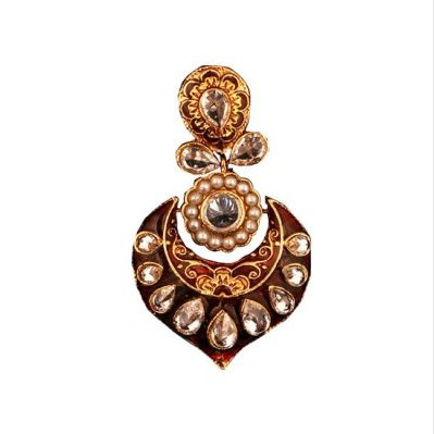 Heavy Dangler Earrings in Red   Regular Price: Rs1,000.00  Special Price: Rs700.00