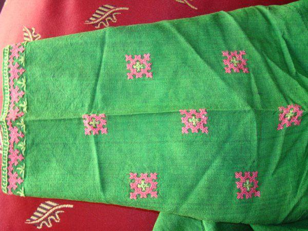 greenpink blouse