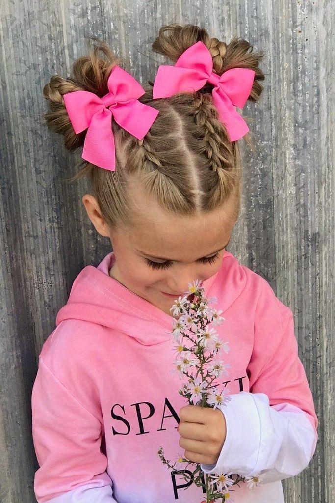 Peinado, Nena, Nena, Colitas, Gomitas, Banditas, cheveux, fille, queue 17 Coiffures pour enfants à la mode que vous devez essayer sur vos enfants #kids #hairstyles - BuzzTMZ