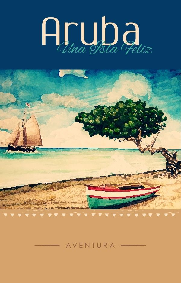 Vintage Travel Poster Aruba Dutch Island