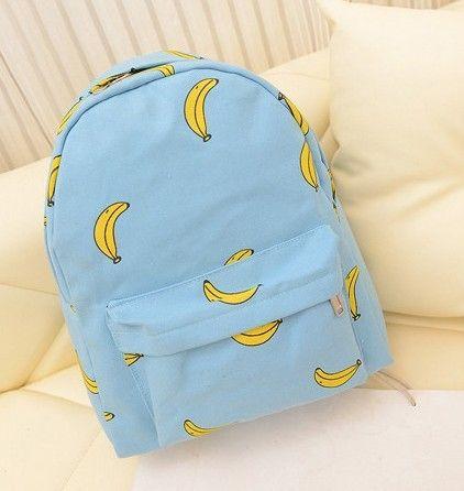 Милые девушки банан шаблон печать женщины рюкзаки , открытый накладки школьные сумки уникальный мода холст рюкзак купить в магазине Bagsinthebox на AliExpress