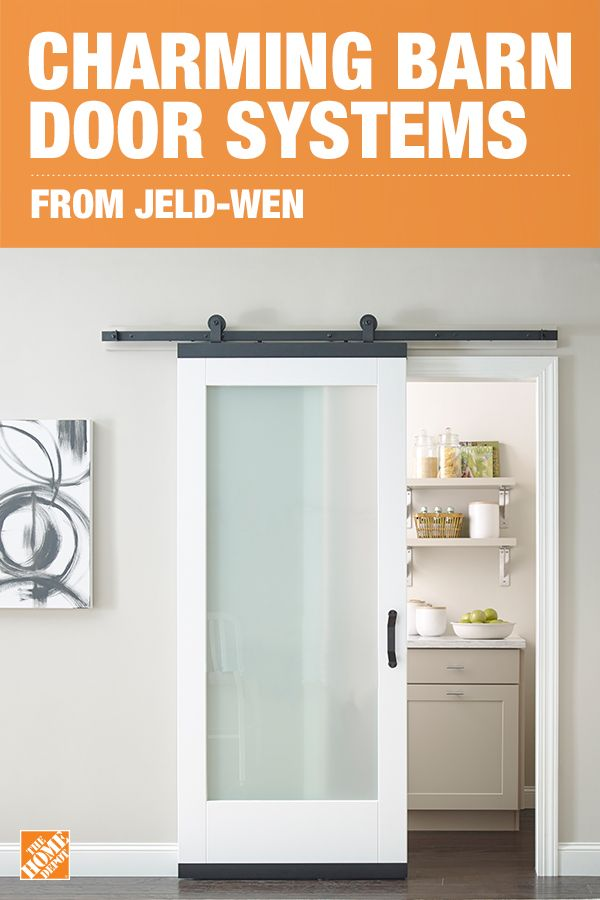Style your home with farmhouse accents that offer a functional charm. Jeld-Wen DesignGlide™ Barn Door hardware is the perfect addition to a rustic home that's tight on space. Place sliding barn doors where typical outswing doors won't fit, or use them to cover shelving and storage. This barn door hardware brings whimsy and style to every living space. Click to shop statement-worthy barn door systems.