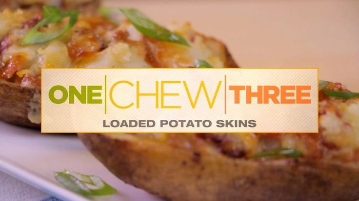 """ABC's The Chew on Instagram: """"Did someone say Party Ready Bites?! You need to gives these Loaded Potato Skins a try! #OneChewThree"""""""
