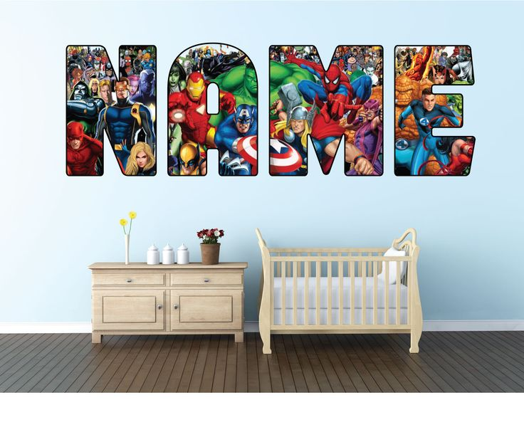 Personalised Avengers/Superhero Name Wall sticker decal for kids Boys room-WBR4 by SimpleSmartStuff on Etsy https://www.etsy.com/listing/518080012/personalised-avengerssuperhero-name-wall