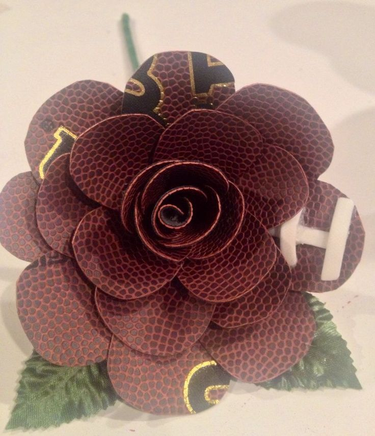 Flower made from a football.