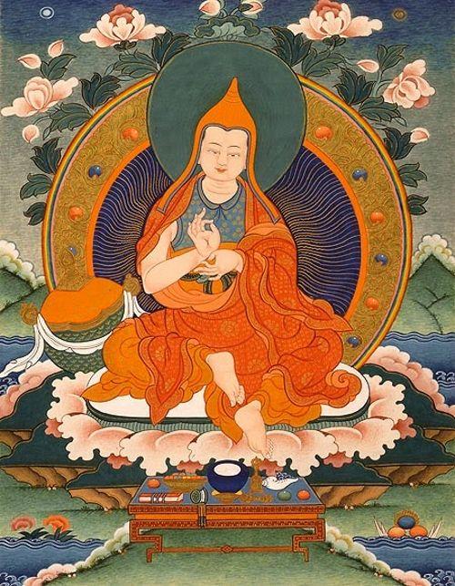 Assanga foi um grande iogue budista indiano e erudito do século quinto, autor do Compêndio de Abhidharma, que tinha grande conexão com Buda Maitreya.  Devido a sua grande compaixão, ele foi habilidoso ao purificar todas as suas obstruções cármicas e assim ver diretamente seu Guia Espiritual, Buda Maitreya.