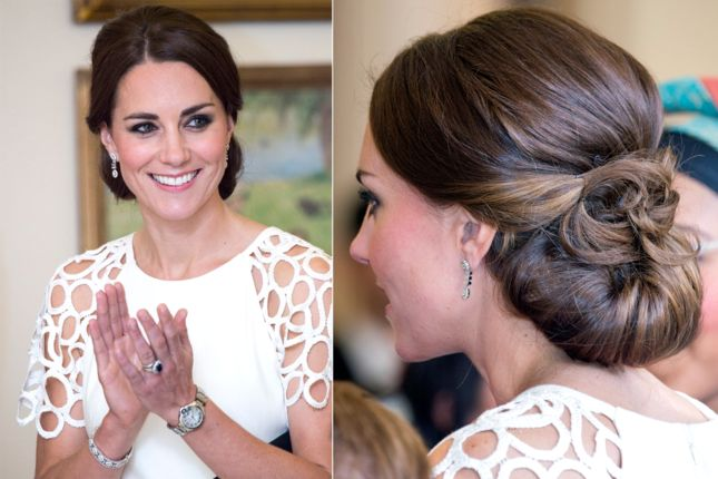 another classic Kate Middleton updo