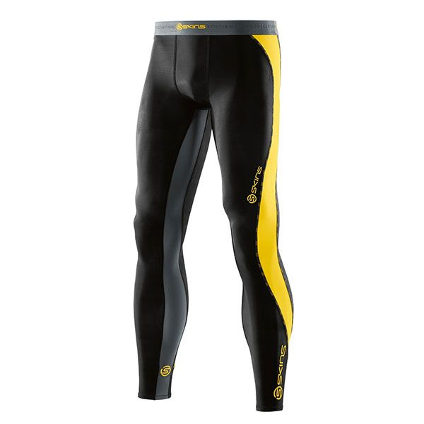 Increase endurance performance and reduce fatigue and risk of injury in the SKINS DNAmic Long Tights. #ReadySetGoFitness #Skins #Compression #Longtights #Recovery