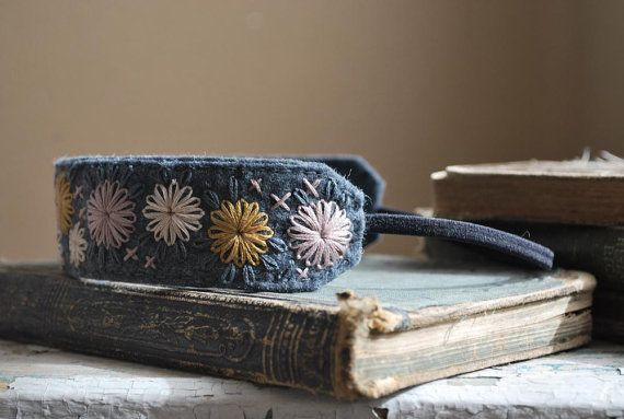 Felt Headband in Pewter Grey Wool Hand Embroidered by lovemaude, $29.00