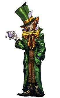 Mad Hatter by Carlos D'Anda - Batman Arkham Asylum. So creepy in the game. Glad they got Peter MacNicol to voice him, he's so underrated.