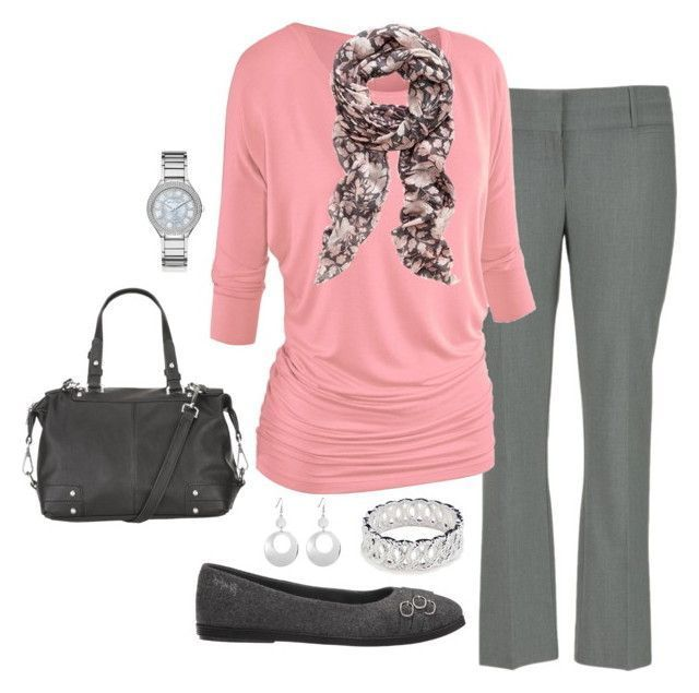 22 Appealing Winter Outfits for Work: If you told us that you looked at this picture and didn't smile, we probably wouldn't believe you. There is something that is simply so feminine and heartwarming about the pink and grey combo. And if you want to look a bit more mature with it, add some black somewhere in the mix.