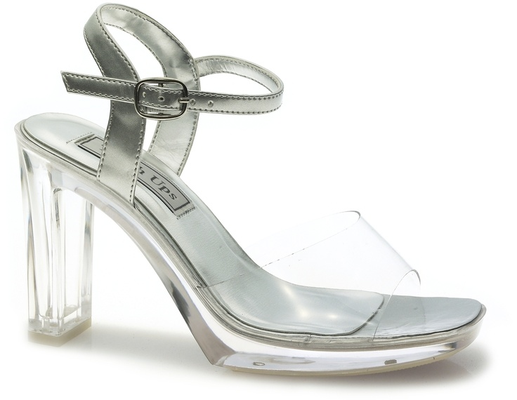 Touch Ups Madonna Clear/Silver Vinyl Women's Sandal Now for Man-Made. Vinyl  and synthetic leather upper.