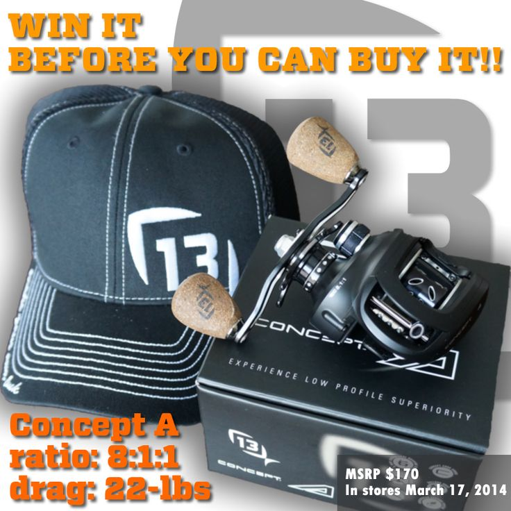 13 Fishing New Concept Reel Giveaway!