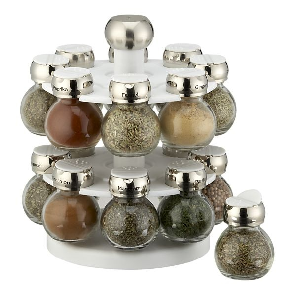 Revolving Spice Rack with 16 Jars in Food Storage | Crate and Barrel