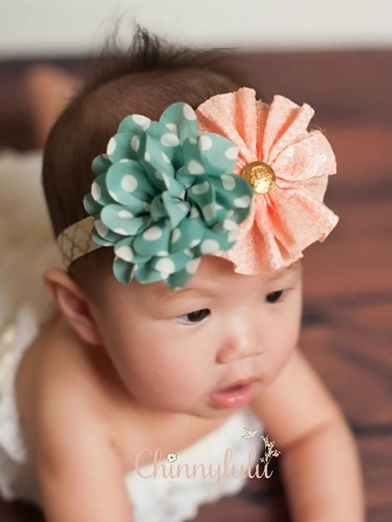 Whimsical Shabby Chic Mint Green Polka Dots and by ChinnyLuLu, $18.50