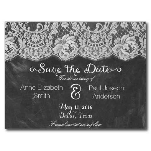 190 best chalkboard save the date postcards images on Pinterest ...