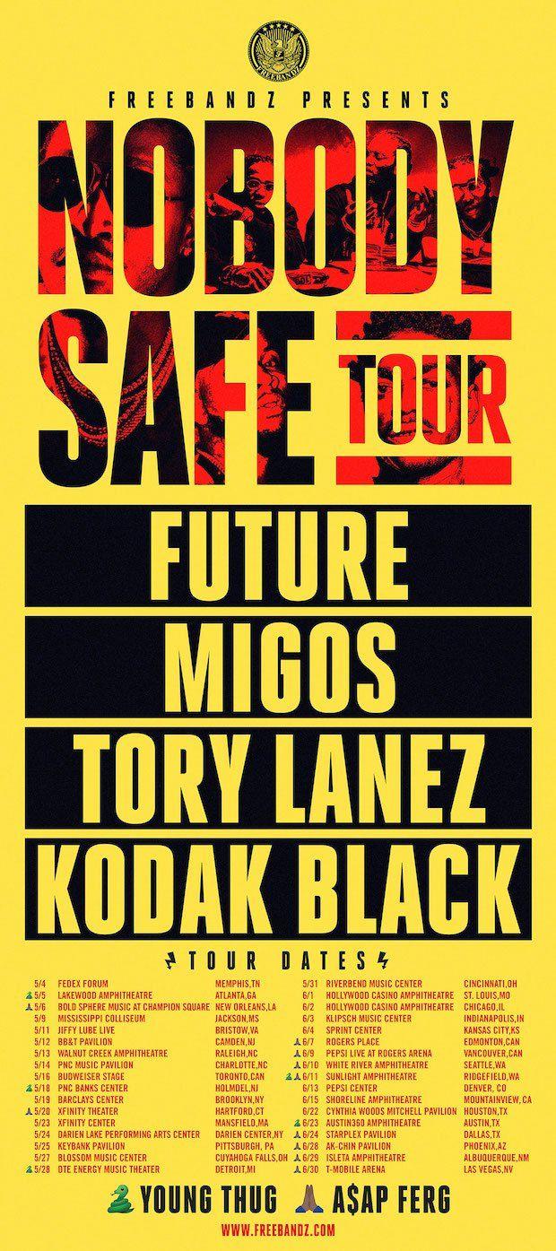 """Future Announces """"Nobody Safe Tour"""" With Migos, Tory Lanez & Kodak Black"""