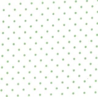 8654-53 - Essential Dots (White Green) // Juberry Fabrics