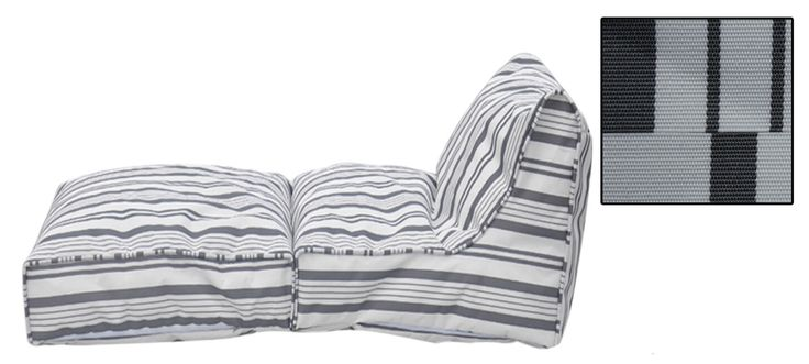"Nautical Bean Bag Lounger - Outdoor Relax into these multi-use chairs! You can enjoy sitting upright in this chair or stretch out in style! Perfect for outdoors! Dimension as lounger: 63""x 27""x 20"". D"