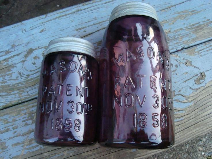 Very Rare Purple Mason Jars....BENJAMIN I THINK THESE ARE YOURS!!!!!!!!???