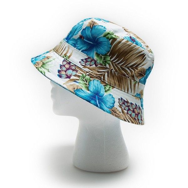 Bucket Hat For Men and Women One Size White Floral at Amazon Women's... ($14) ❤ liked on Polyvore featuring men's fashion, men's accessories, men's hats, bucket hat, floral hat, summer hat, mens summer hats and mens floral hats