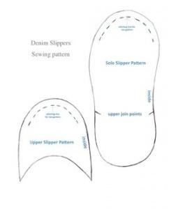 Denim Slipper Pattern