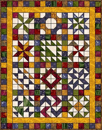 Scrap Sampler Quilt - Page 5 Block Of The Month - pattern - http://www.bakersfieldquiltguild.org/quilting/block-of-the-month.html