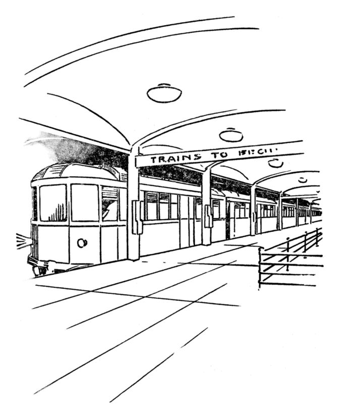 subway car coloring pages