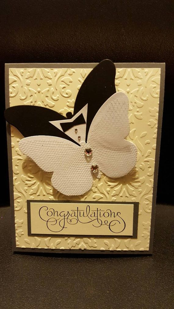 Check out this item in my Etsy shop https://www.etsy.com/listing/178429818/butterfly-bride-groom-card