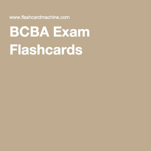 BCBA Exam Flashcards