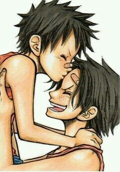 This pic of Luffy and Ace makes my heart melt