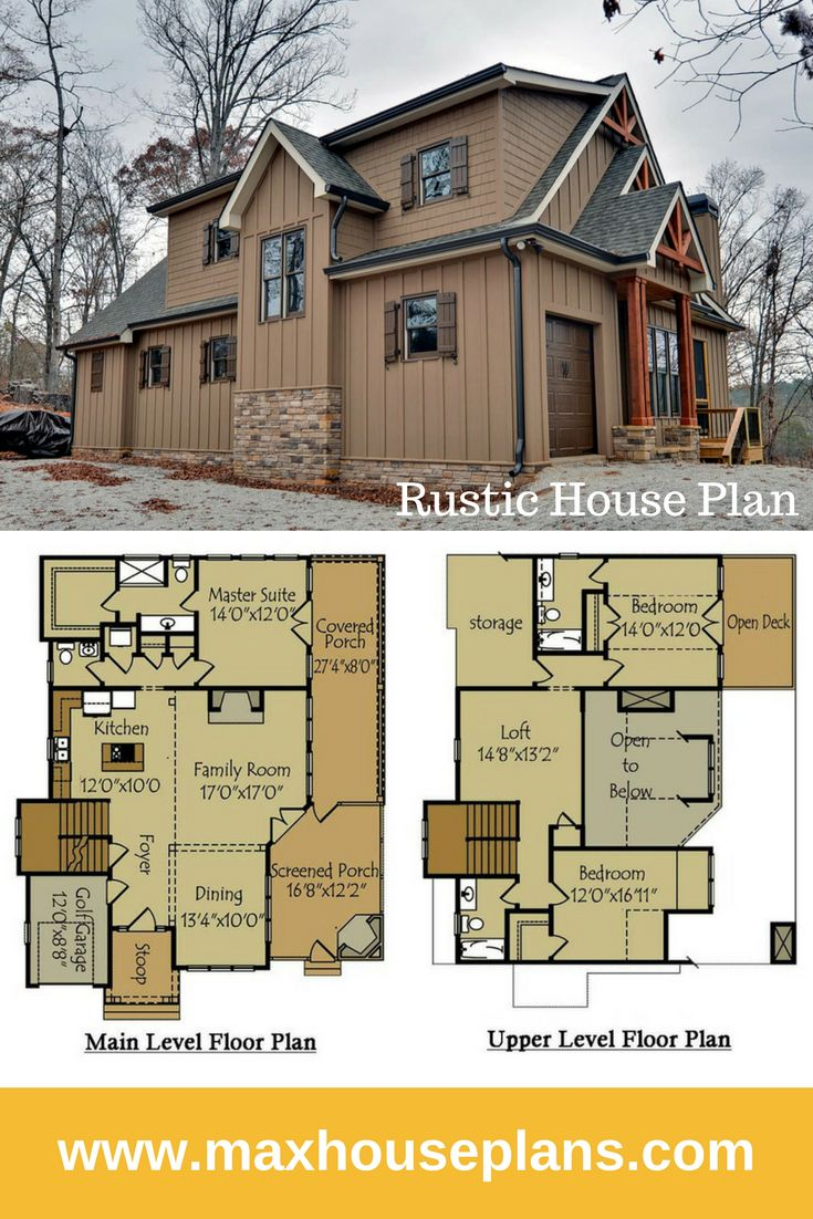 Stone rustic house plans for Rustic luxury house plans