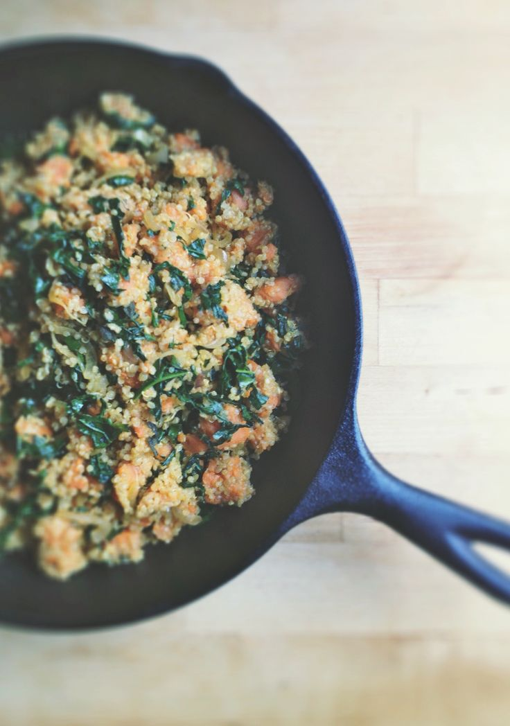 Roasted Sweet Potato, Kale + Sage Quinoa Skillet | With Food + Love