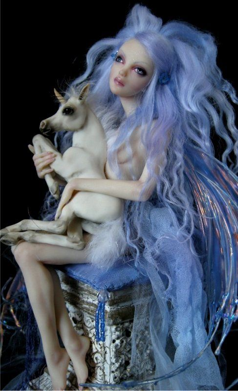 Nicole West's OOAK sculpted doll.