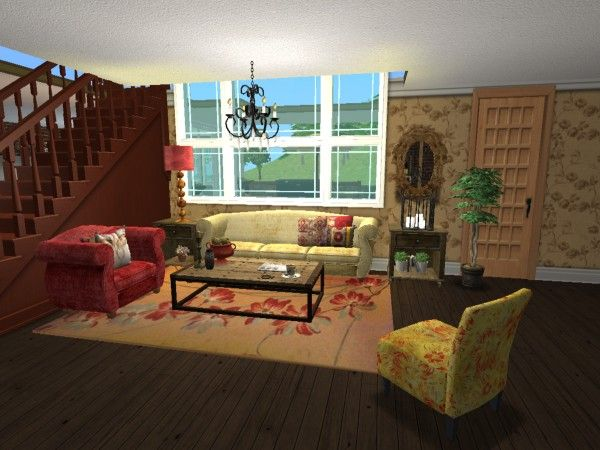 Eclectic Pottery Barn Living Room Virtual Room Design Home D Cor Using The Sims 2
