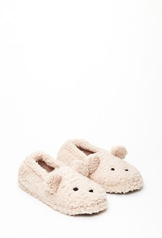 Great gift for your tween or teen. Fuzzy Bear Slippers from Forever 21. On sale for $7