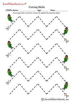 scissor skills worksheets