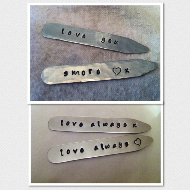 Mens Personalised Collar Stiffeners - The Supermums Craft Fair