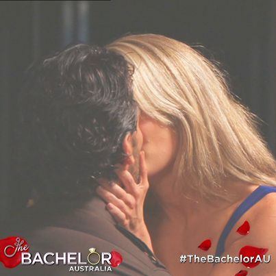 Kiss number 2 for our Bachelor! Watch it now: http://tenplay.com.au/channel-ten/the-bachelor/extra/season-1/katherine-s-kiss