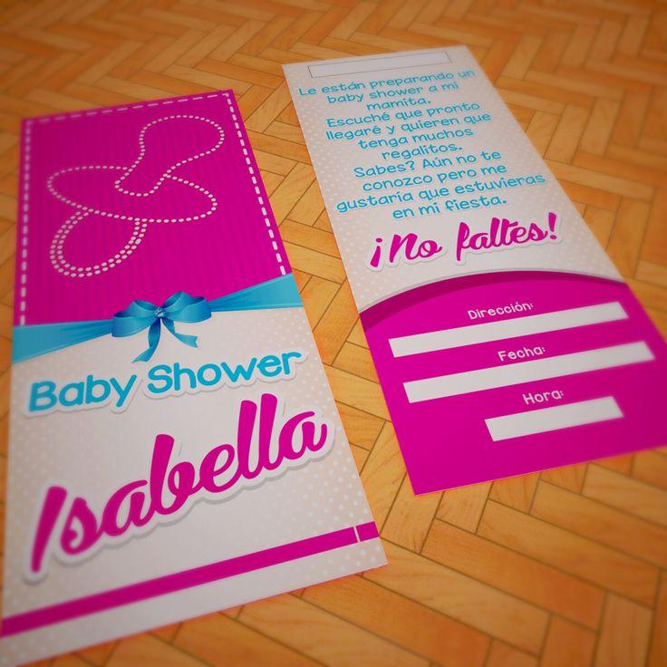 Tarjeta de invitación baby shower Isabella