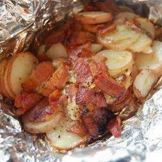 Bacon Ranch Foil Packet Potatoes OMG - tried this with veggie bacon and it was sooo good!
