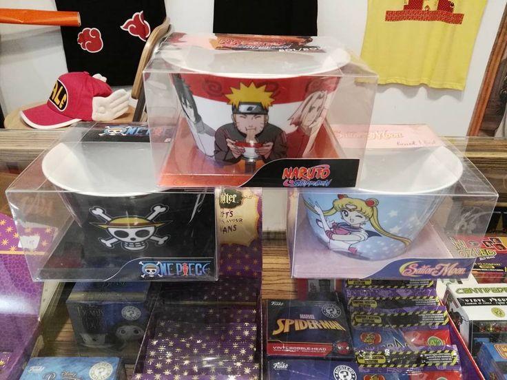 Entre otras cositas en ésa caja han llegado éstos maravilloso bol de Naruto Sailor Moon y One Piece :-) Aaaaaa!! Me encantan !!! Ideales para un bien desayuno :-) Lego pondré vídeo para que loe puedas ver bien :-) #mistergiftbcn #mistergift #oficial #official #bol #bowl #naruto #onepiece #sailormoon