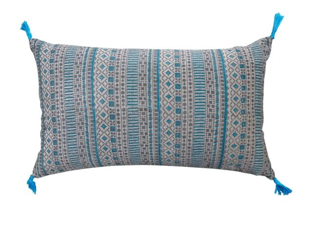 Marrakesh Gable cushion measures 30cm x 50cm and includes insert.  Available from www.bohemianliving.com.au