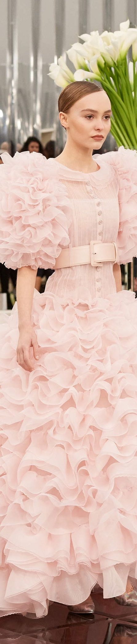 Chanel | Bridal Gown (Details) | Spring/Summer 2017 | French | Haute Couture | Paris Fashion Week | Lily-Rose Depp | This dress opens the show.