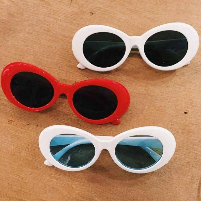 Classic Women Plastic Oval Shades Butterfly Sunglasses