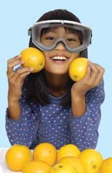 Investigate vitamin C in a simple chemistry experiment at Howtosmile.org. Determine if Tang drink mix or orange juice contains more vitamin C, in the Testing Vitamin C activity from the American Chemical Society.