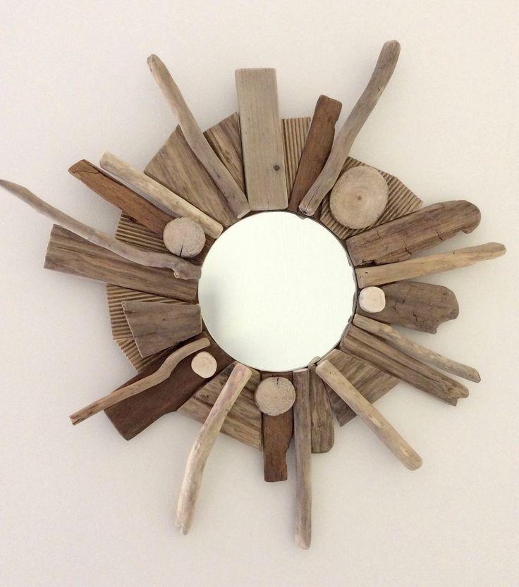 17 meilleures id es propos de miroir en bois flott sur for Miroir bois flotte