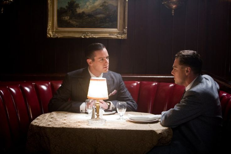 Leonardo DiCaprio as J. Edgar Hoover and Armie Hammer as Clyde Tolson