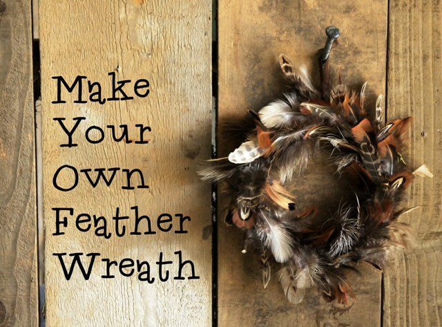 How to make a pretty feather wreath #fall #thanksgiving #diy